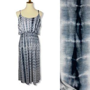 Olivia Rae Gray Tie Dye Cinched Waist Tank Dress